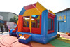 HI EN14960 Inflatable Double Slide with Pool,Colorful Inflatable Bouncer House 5-in-1 Combo