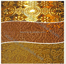 4x8 Color Coated Hairline Stainless Steel 2MM Embossed Copper Sheet