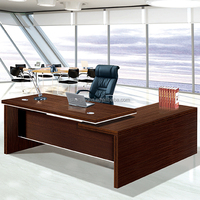 Industrial style office furniture desk best price wood executive table