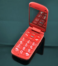 2.2 inch Flip big boutton with sos Dual SIMquad band OEM senior mobile phone Made in China