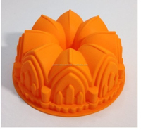 BPA Free 100% Food Grade silicone castle cake mould