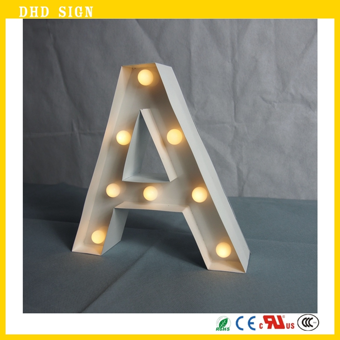 Battery Operated mini marquee light letters