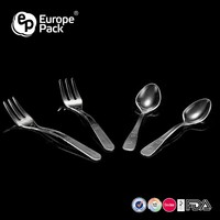 PS Heavy weight plastic disposable tableware set /spoon and fork set/spoon plastic