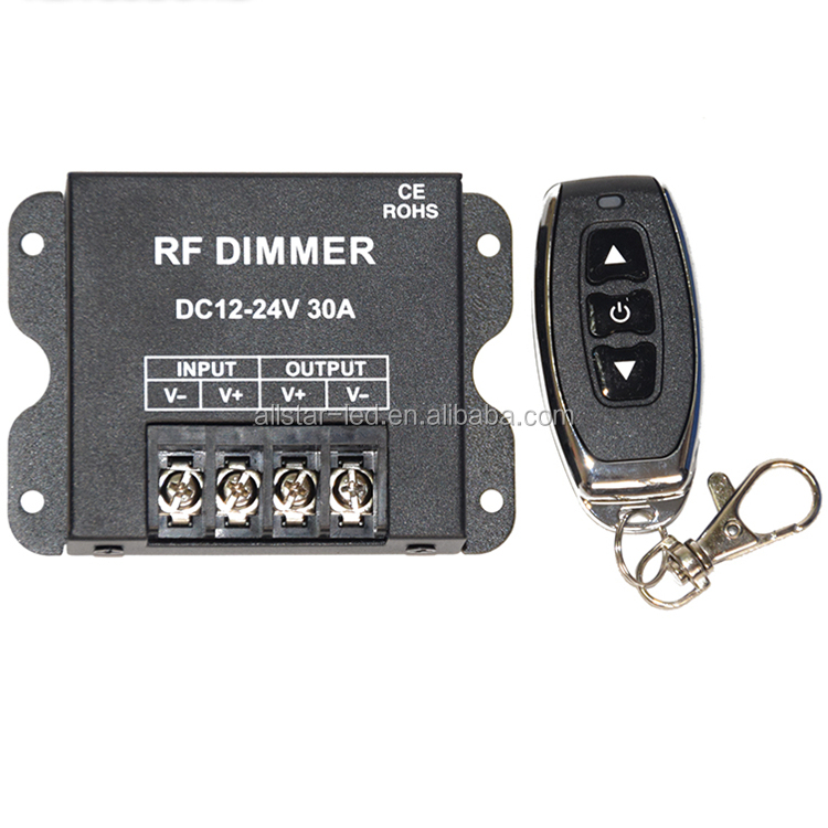 Newest 3key 30A LED dimmer 12-24V Wireless Remote LED Single Color dimmer RF Dimmer Controller For 5050 3528 Led Flexible Strip