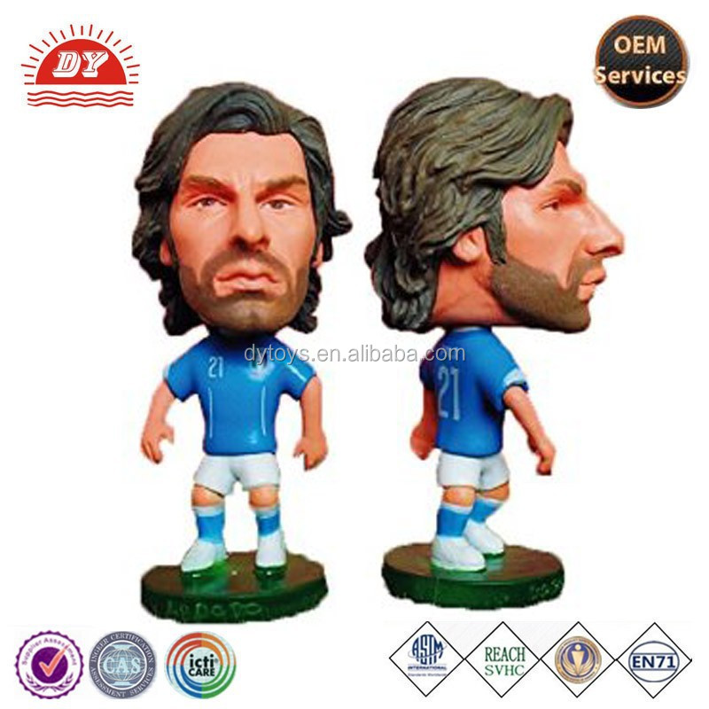 Custom Miniature Soccer Player Plastic Figure