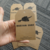 2018 customized logo jeans hang tags with kraft paper