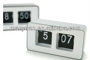 CT-259 Stylish creative arts seat watch/cube automatical flip clock
