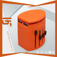 2014 hot gift dual usb international travel adapter