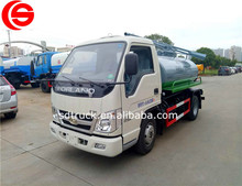FOTON 2.3 cbm mini vacuum fecal suction truck best price China professional sanitation truck