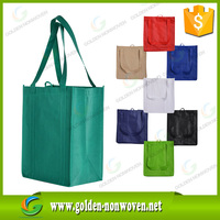 Good quality nonwoven wine bag, promotional folding shopping bag pp nonwoven bag hs code