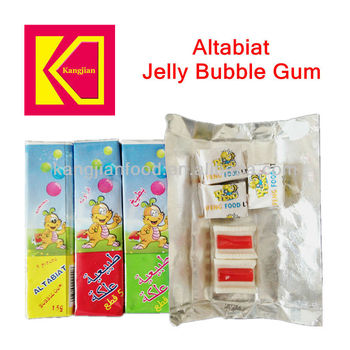 Altabiat bubble gum with jelly