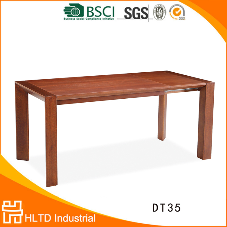 Luxury vintage long narrow wooden extendable dining table