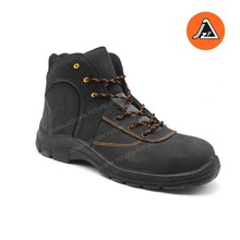 Black nubuck safety boot factory safety shoe designer safety footwear as item# JZY2001SB