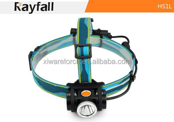 AAA x 3 or 18650 battery (optional) 550lm Water resistant led headlamp / led canister headlamp HS1L