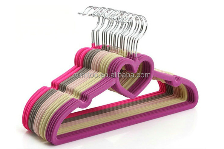 Customized multi colors clothes velvet hangers wholesale