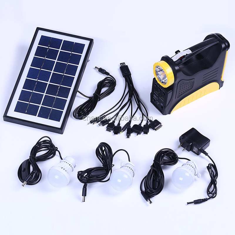 Solar portable solar power system outdoor camping lamp,factory price solar power charging lighting system