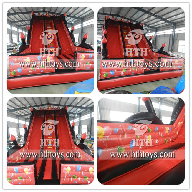 Red color balloon inflatable slides for sale