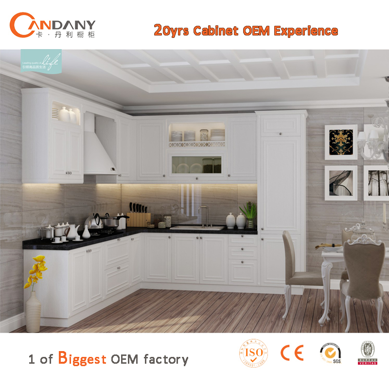 High quality combined PVC kitchen cabinet, customized kitche cabinet
