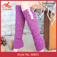 SG011 new lace knitting leg warmers for kid