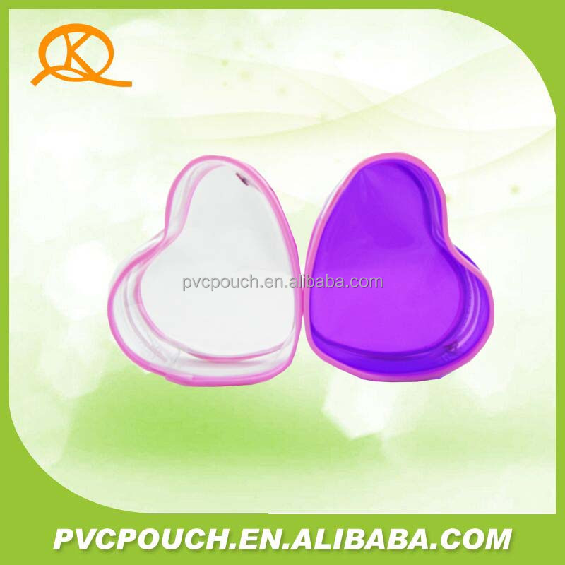 Factory pvc recycle transparent ziplock mini cosmetic pouch bags