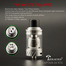 Teslacigs Automizer Captain 24 RTA Adopt to any Vape Box Mod