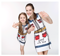 polyester mother and daughter dress alike outfits summer vest dress funny printed daily wear OEM Guangzhou factory