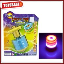 Battery operated light spin top toy