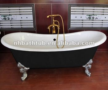 popular cast iron tube/double slipper baths tubs/freestanding clawfoot baths