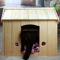 Factory wholesale latest design solid wood pet bed house wood weather proof dog house