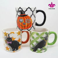 Halloween design various styles ceramic 16oz cups,ceramic personal cup with full printing