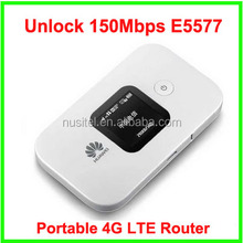 Hot Sale Original 150mbps Huawei E5577, big battery Huawei 150M Mobile Wi-Fi 4G lte pocket Wireless WiFi Router E5577