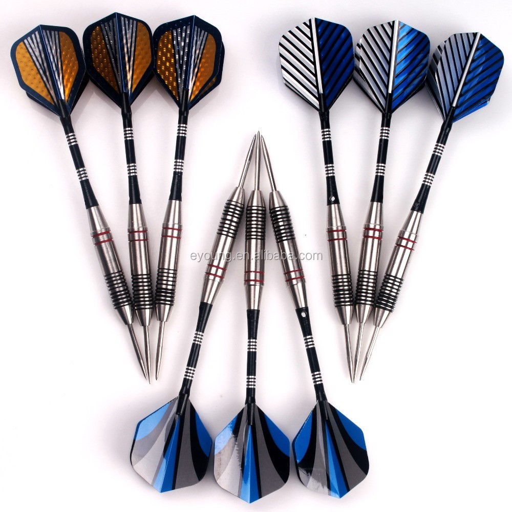 Professional Straight stainless darts with Dart Flights & Case Steel Tip Darts Set