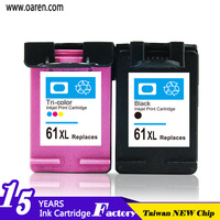 new product on china market chip reset to full level compatible ink cartridge for hp 61XL CH563WA best selling products in EURO