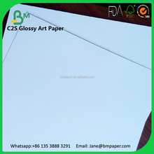 100gsm 105gsm 115gsm 120gsm one side coated glossy art paper for sticky paper