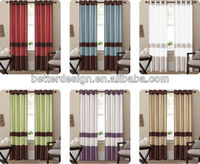Chinese Supplier Ready Made Faux Silk Embroidered Window Curtain