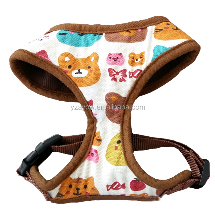 Hot sex woman with dog pet harness and cartoon print harness