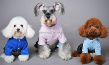 2015 Hot-selling high quality dog clothing 100%cotton fleece winter coat with cap pet hoodies jumpsuits
