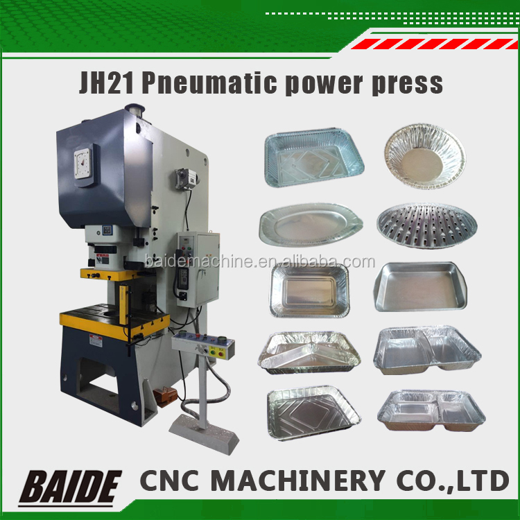 JH21 80ton 45 ton high speed pneumatic metal power press/automatic steel plate high precision hole punching machine for lid