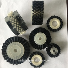 Industrial round Rotary Nylon Cylinder Brush For Cleaning polishing