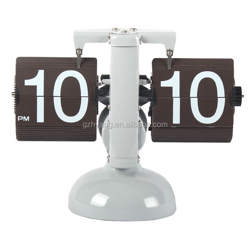 MK-TIME 24 hour clock classic metal balance flip clock white color