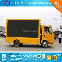 HOWO 4*2 Mobile truck P10/P16 led billboard full color led display outdoor / Video P10 Led Outdoor Tv Billboard truck
