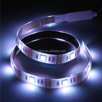 RGB 5050 SMD 60 LED Strip Lights with Battery Box Waterproof Craft Hobby Light 14.4W 200cm