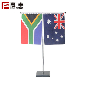 Wooden Flag Pole And Stand Table Flag