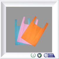 High Quality Non Woven Vest Handle carrier bags 100% new material T-shirt Bags