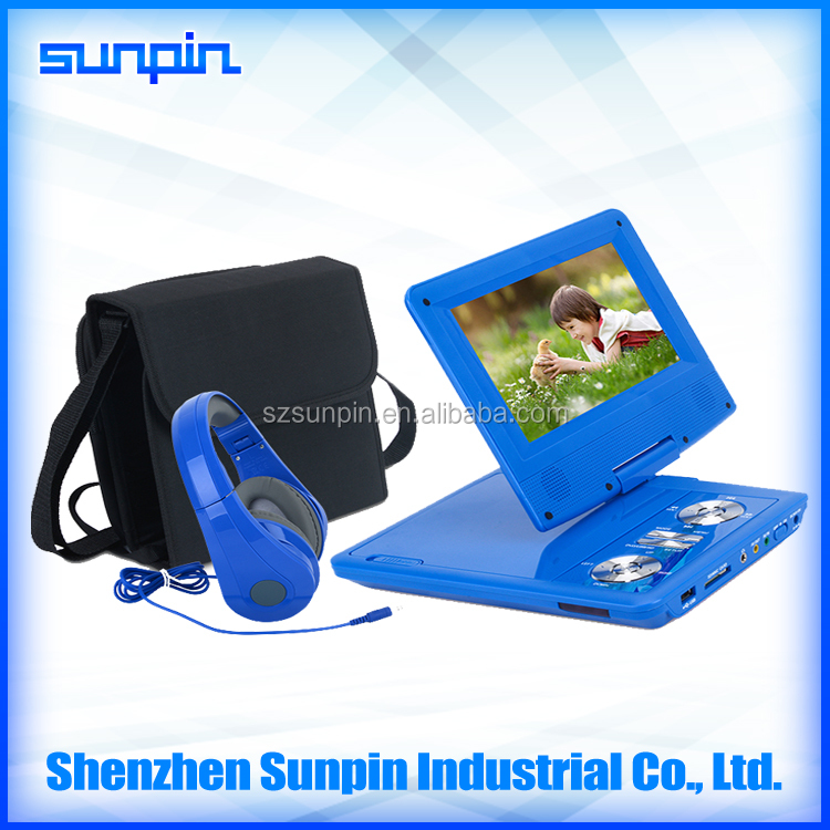 7 Inch Mini LCD Screen School Buy Portable DVD Player for Kids Learning