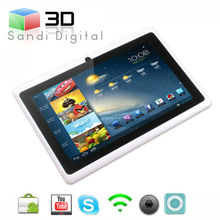 different types of tablets 7inch tablet pc Q88 allwinner A13 Android4.0 ultrathin mini laptop