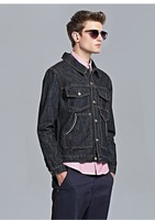 Multi Pocket Stereo Cutting Denim Jacket