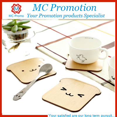 Promotion custom cork wood cup coaster