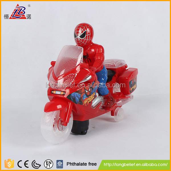 Alibaba hot selling with light and music B/O motorcycle diecast model car for kids