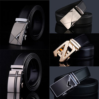 Leather Belts For Men Automatic Buckle